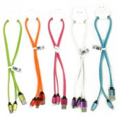500 Units of 20 INCH 2 IN 1 HIGH SPEED CHARGING CABLES FOR I-5 / I-6 AND ALL OTHER NON-APPLE PHONES. ASSORTED COLORS. RETAIL PEG-ABLE