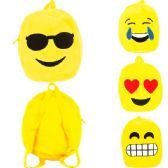 """60 Units of PLUSH EMOJI BACKPACK IN ASSORTED PRINTS (DIMENSIONS: 12 X 9 X 3) - Backpacks 15"""" or Less"""
