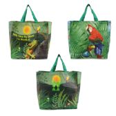 200 Units of ECO BAG IN 3 ASSORTED PRINTS - DIMENSIONS: 14 X 14 X 8