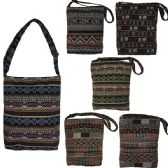 60 Units of OVERSIZE TAPESTRY XBODY IN ASSORTED AZTEC PRINTS (DIMENSIONS: 15 X 12 X 4)