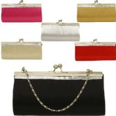 48 Units of LARGE EVENING BAGS W/STONES SOLID ASST COLORS (DIMENSIONS: 5 X 8.5)