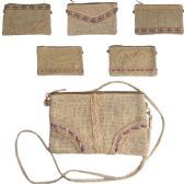 120 Units of JUTE CLUTCH / XBBODY BAG IN ASSORTED PRINTS (DIMENSIONS: 6 X 9)