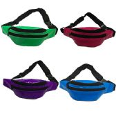 48 Units of FABRIC FANNY BAG WITH AN ADJUSTABLE WAIST STRAP (DIMENSIONS: 15 X 5 X 3) - Fanny Pack