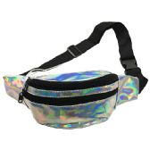 120 Units of IRIDESCENT SILVER ADJUSTABLE WAIST STRAP (DIMENSIONS: 15 X 5 X 3)