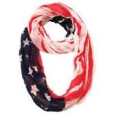 24 Units of AMERICAN FLAG INFINITY SCARF - Womens Fashion Scarves