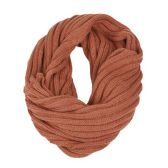 24 Units of STRIPE CABLE KNIT INFINITY SCARF - Winter Scarves
