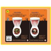 72 Units of 2 piece printed toilet decoration - Halloween & Thanksgiving