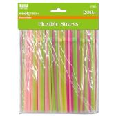 96 Units of 200 Count Flexible Straws - Straws and Stirrers