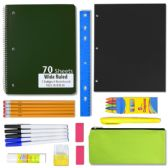24 Units of 12 PIECE SCHOOL SUPPLY KIT - School Supply Kits