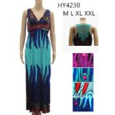 24 Units of Peacock Pattern Long Maxi Dresses Assorted Lace Back