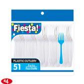 96 Units of 51Count white fork - Plastic Utensils