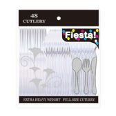 48 Units of 48 Count /10# prem clear cutlery - Plastic Utensils