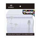 48 Units of 48 Count premi clear fork - Plastic Utensils