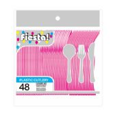 96 Units of 48 COunt 8# cutlery fucshia - Plastic Utensils