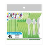 96 Units of 48 Count /8# cutlery lime - Plastic Utensils
