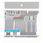 96 Units of 48 Count 8# cutlery silver - Plastic Utensils