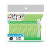 96 Units of 48 Count /8# folk lime green - Plastic Utensils