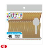 96 Units of 48 Count/8# spoon gold - Plastic Utensils