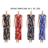 48 Units of Womens Fashion Long Summer Dress Assorted Color And Sizes - Womens Sundresses & Fashion