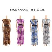 48 Units of Women Fashion Long Sun Dress In Assorted Size And Color