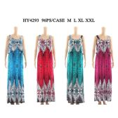 48 Units of Womens Fashion Long Summer Dress With Crop Shirt In Assorted Color And SIze