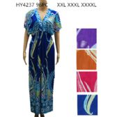 48 Units of Womens Fashion Summer Dress In Plus Sizes Assorted Color