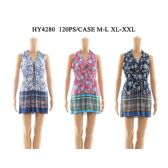 60 Units of Womens V Neck Tied Short Sun Dresses In Assorted Colors