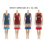 72 Units of Womens Fashion Short Sun Dress In Assorted Color And Size - Womens Sundresses & Fashion