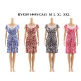 72 Units of Womens Fashion Short Sun Dress With Lace Neck