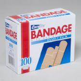 48 Units of Bandages Family Pack 100ct Mixed Size Box