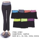 72 Units of Womans Assorted Color Yoga Pants Assorted Plus Sizes - Womens Leggings