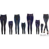 72 Units of Womans Denim Like Leggings / Jeggings One Size Fits All - Womens Leggings
