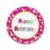 "96 Units of Happy BIrthday 7"" paper plate/8 Count"