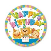 "96 Units of 7""/8 count paper plate B'day"