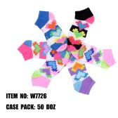 120 Units of Assorted Prints Womens Cotton Blend Ankle Socks Digital Heart