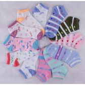 120 Units of Assorted Prints Womens Cotton Blend Ankle Socks