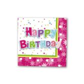 "96 Units of napkin B'day 13x13""/8 count"