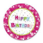 "96 Units of 9""/8ct paper plate B'day"