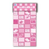 "96 Units of table cover girl 52""x72"" - Baby Shower"