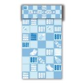 "96 Units of table cover boy 52x72"" - Baby Shower"
