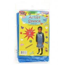 72 Units of Disposable Children's Artist Smock 4 Pack - Art Paints