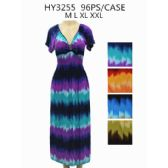 48 Units of Womens Fashion Multi Colored Rayon Long Sundress