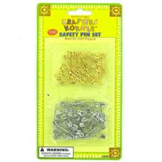 72 Units of Crafting Safety Pins - Safety Pins