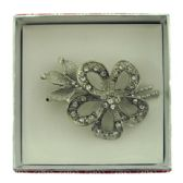 36 Units of Flower with a leaf and branch pin with gift box