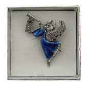 36 Units of Angel playing the trumpet pin with gift box