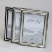 240 Units of Frame 5x7 3asst Silver W/black Contempo Plastic 12pc Pdq Shrink W/label