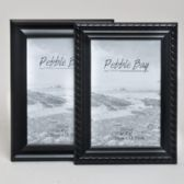 240 Units of Photo Frame 4x6 Black 2ast Style Plastic In 12pc Pdq Shrink/label Piecrust Edge& Clean Concave