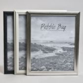 240 Units of Photo Frame 8x10 3ast Clrs/styls Plastic In 12pc Pdq Shrink/label Black/silver/white