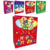144 Units of Birthday Bag Small - Gift Bags Assorted