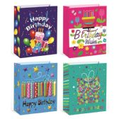 "144 Units of B'day bag Hot Stamping 7.5x9x4""/Medium"